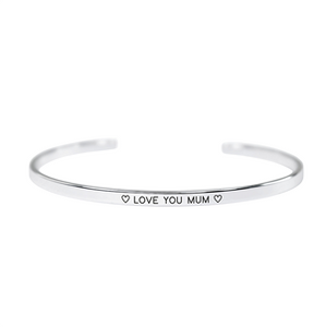 "Silver Plated ""Love You Mum"" Bangle"