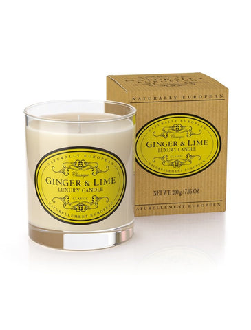 Naturally European Ginger and Lime Scented Candle