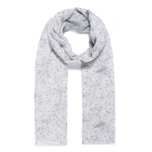 Grey Flamingo Lightweight Scarf