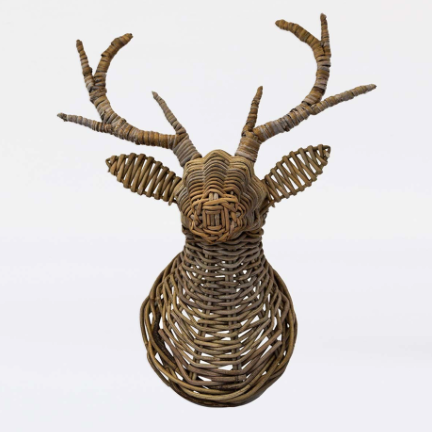 Ivyline Wicker Deer Head