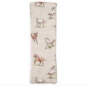Dual Sided Wheat Bag in Horses Print