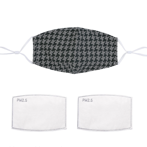 Face Mask in Houndstooth Print