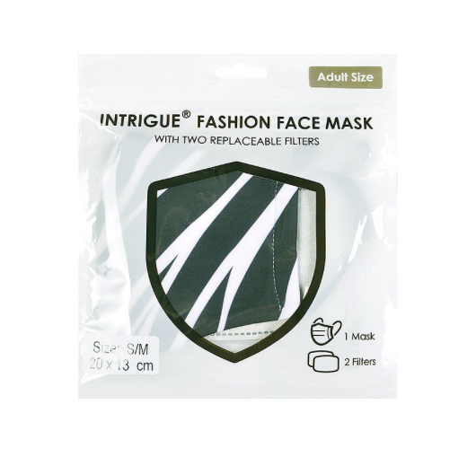 Black and White Abstract Face Mask