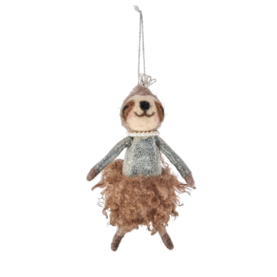 Felt Sloth Fairy Hanging Decoration