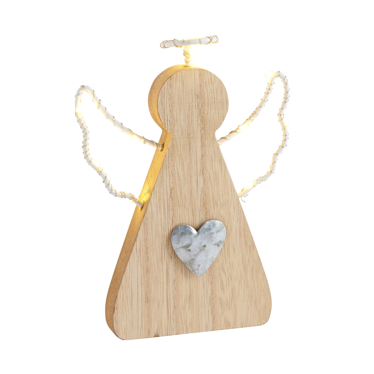 Wooden Light Up Christmas Angel
