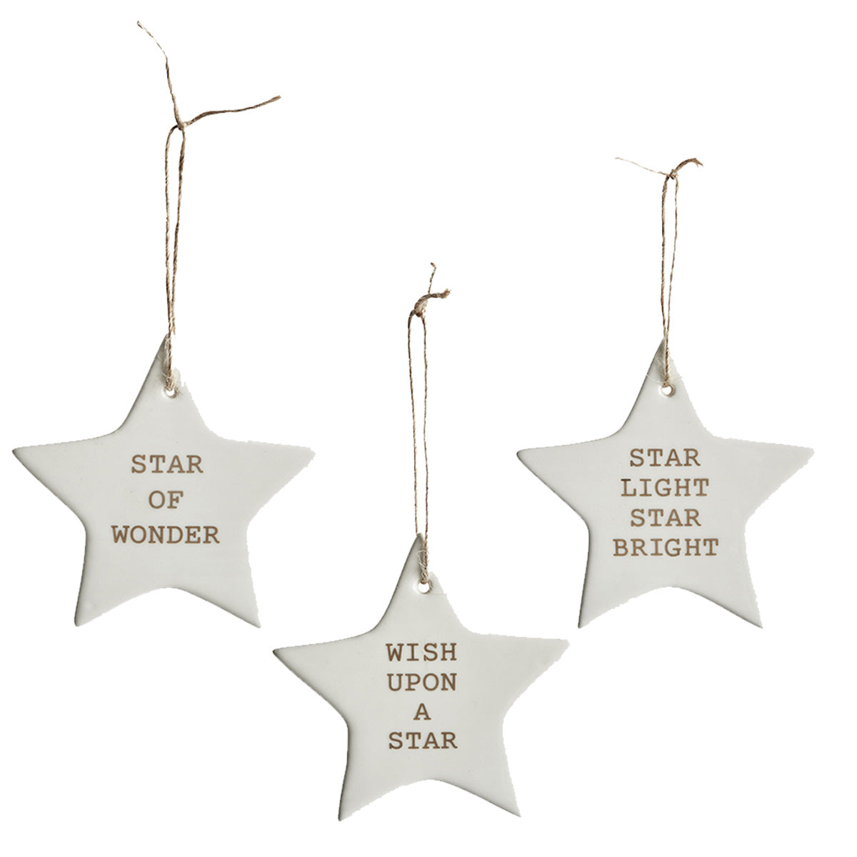 Ceramic Christmas star decoration
