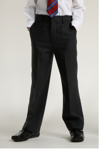 Junior boys slim fit trouser (Black)