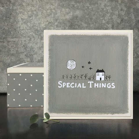"""Special Things"" Wooden Keepsake Box"