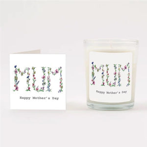 Floral Mother's Day Wreath Boxed Candle & Card