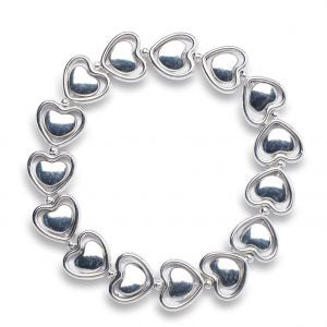Encased heart bracelet
