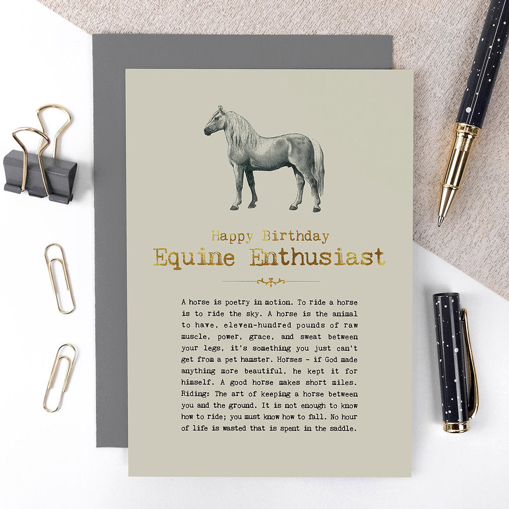 Equine Enthusiast Birthday Card