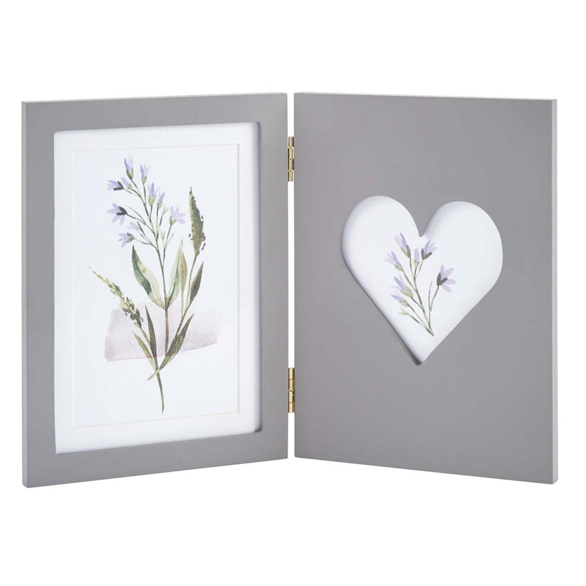 TWIN 6X4 FOLDING PHOTO FRAME - GREY