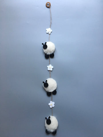 Handmade Baby Sheep Mobile (Flower)