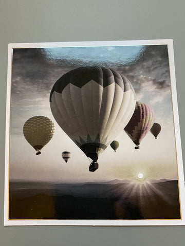 Balloons black and white card