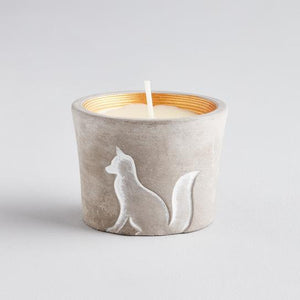 Winter Woodland Fox Candle