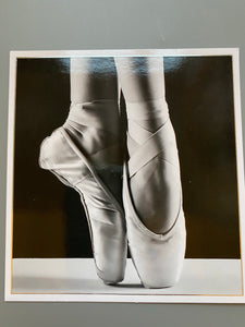 Ballet black and white card