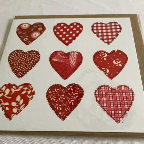 Hearts card made in the uk