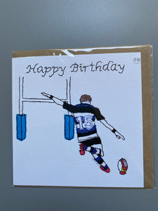 Rugby card made in the uk