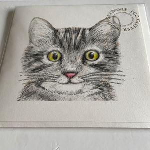 Cat card by English graphics