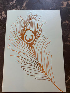Feather card