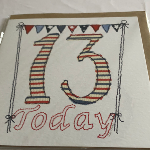 13 card handmade in uk