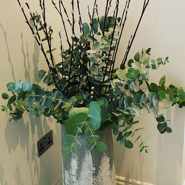 Bunch of fresh eucalyptus ( looks lovely combined with pussy willow- (sold separately)