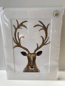 Stag print by English graphics