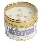 Lavender and Patchouli Small Dotty Candle Tin