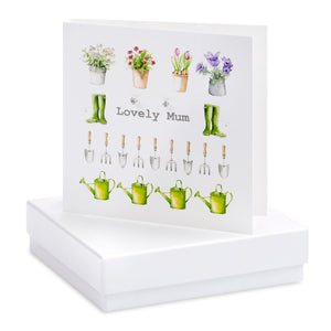 Boxed Gardening Lovely Mum Earring Card