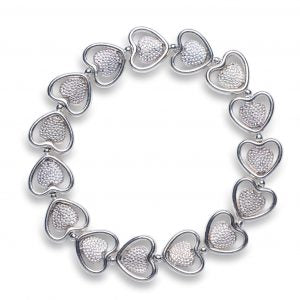 Pierced and Pitted Heart Bracelet