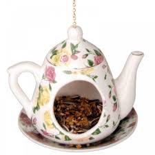 Pink Teapot Bird feeder