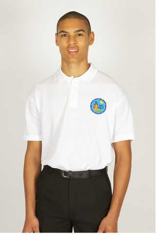 Roade White poloshirt with logo