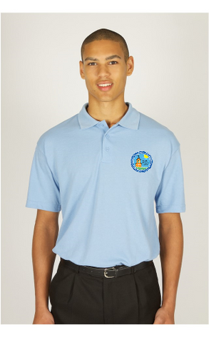 Roade Blue poloshirt with logo