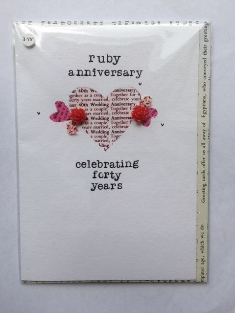 Ruby Wedding Anniversary