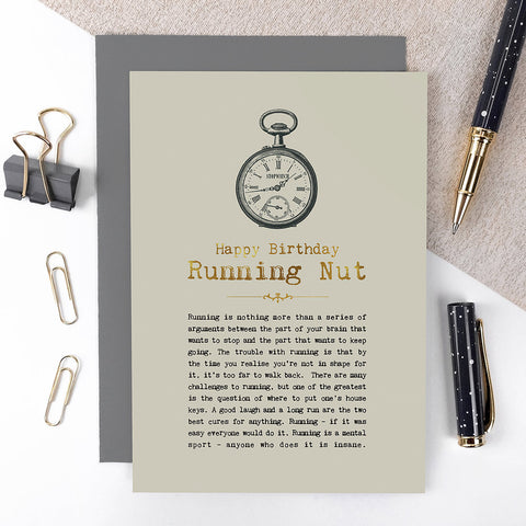 Running Nut Birthday Card
