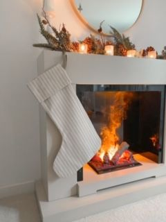 Handmade striped stocking