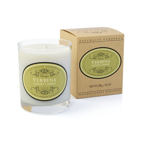Naturally European Verbena Scented Candle