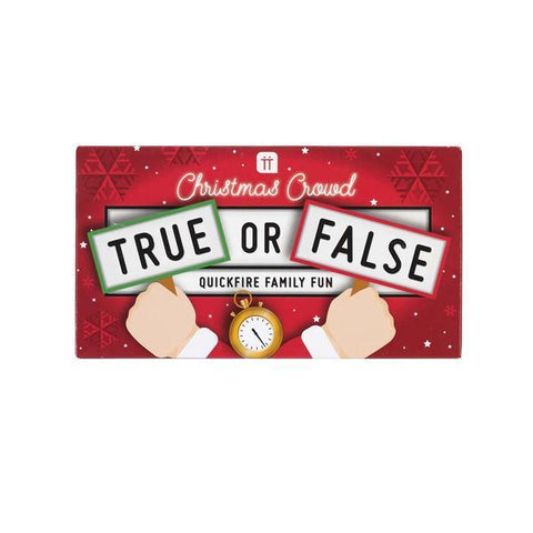 Christmas crowd true or false card game