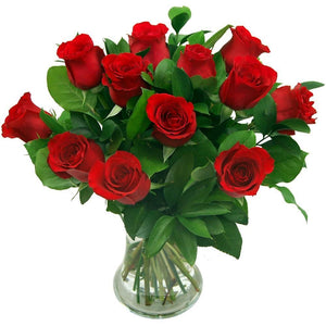 Valentine Vase Flower arrangement
