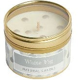 White Fig Small Dotty Candle Tin