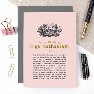 Yoga Enthusiast Birthday Card