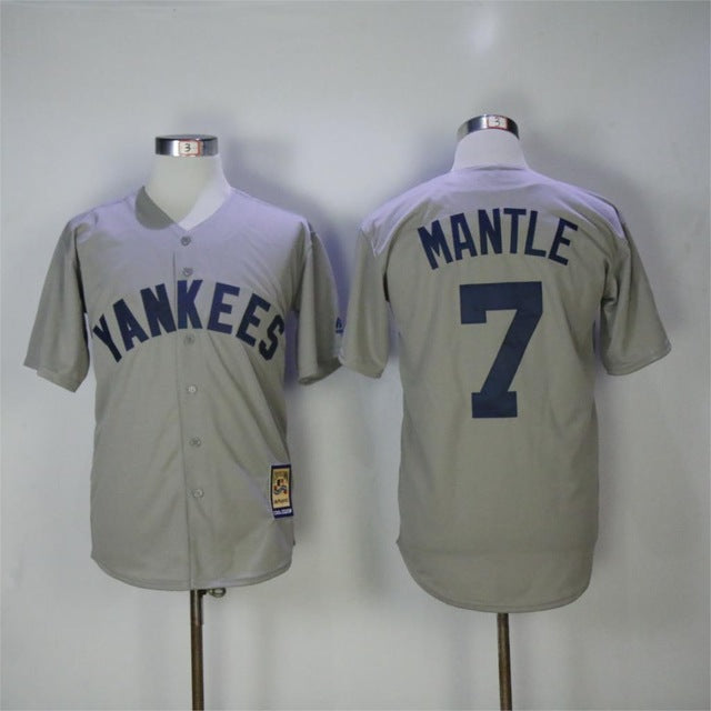 uk availability b121a 3d1e1 Mens New York Yankees Mickey Mantle Cream MLB Authentic Jersey