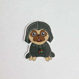 Star Pug Sticker - Fawn