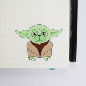 Star Pug Sticker - Green