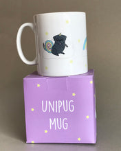 Black Pug Mug Unicorn