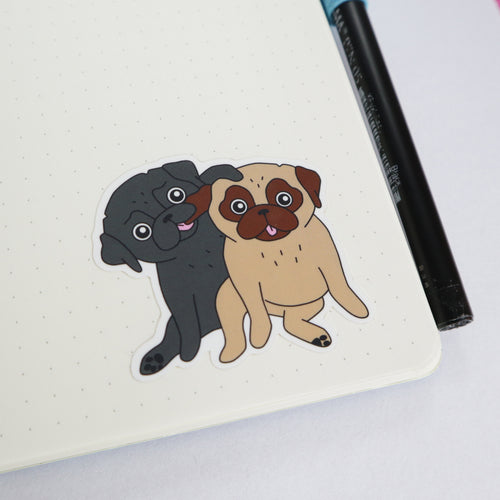 Love Pugs Sticker