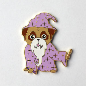 Old Wizard Pug Pin