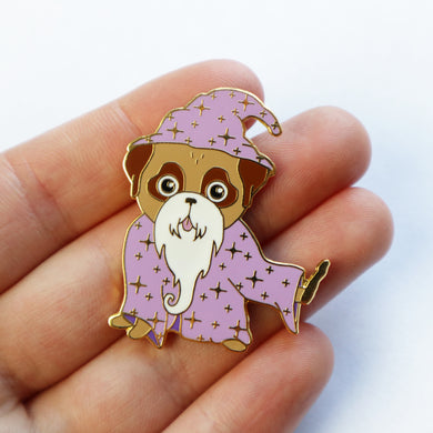 SALE - Old Wizard Pug Pin