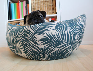 *Made to Order* Leafs Petrol Fabric - Boat Bed