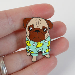Loulou the pug Pin